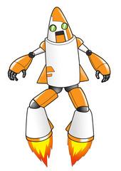 Cartoon illustration of a robot