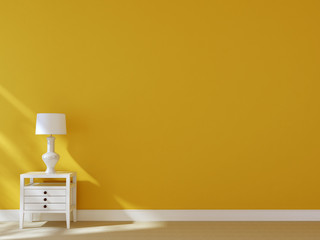 White nightstand with lamp