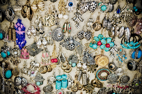 earrings in a market