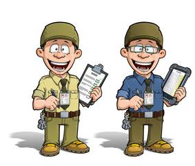 Warehouse - Prison - Courier - Zoo -- Manager - Khaki