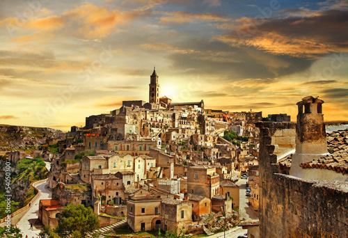 piękne Matera - starożytne miasto Włoch