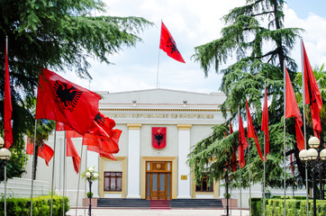 Historical building of albanian parliament