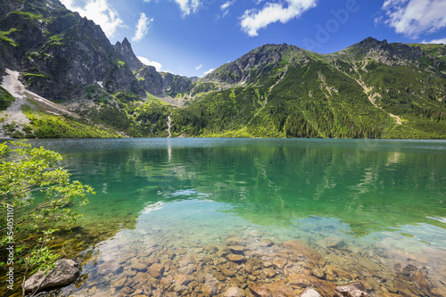 Obraz na Plexi Beautiful scenery of Tatra mountains and lake in Poland