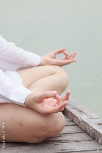 Meditation by young women