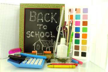 back to school with black board