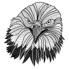 Bald eagle head as USA symbol for mascot or emblem design logo.
