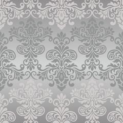 Seamless vintage pattern in grey
