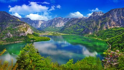 amazing Alpine lakes, Hallstatt, Austria