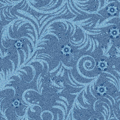 denim floral pattern