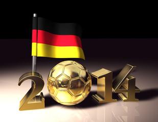 Fussball Flagge 2014 Deutschland