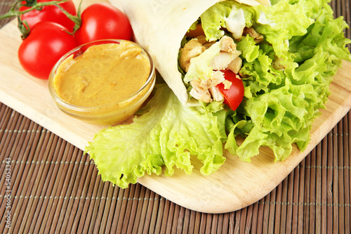 Kebab - grilled meat and vegetables,