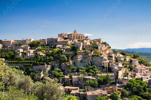 Panorama of hilltop town Gordes
