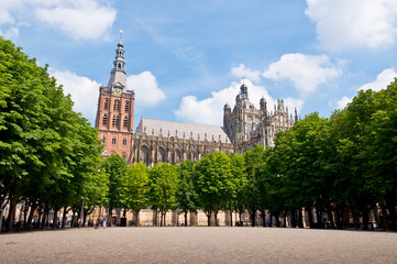 Beautiful Gothic Cathedral in Den Bosch City, Netherlands