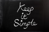 Keep It Simple on a Blackboard