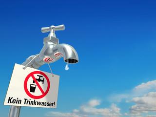 Warnschild: Kein Trinkwasser!