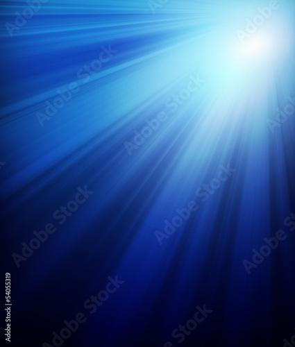 Dark blue background with sunshine
