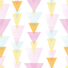 Vector overlayed triangles stripes seamless pattern background