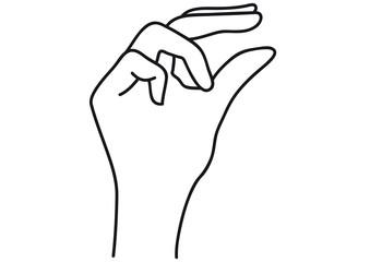 Hand greift