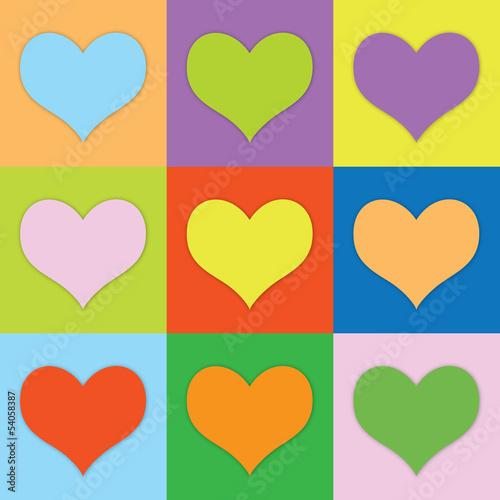 Farbige Herzen