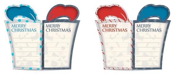Christmas gift cards design