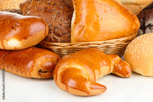 Variety of bread close up