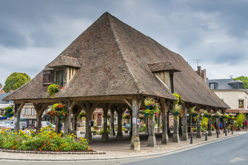 Historic market hall Lyons la Foret