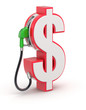 Dollar sign with gas nozzle