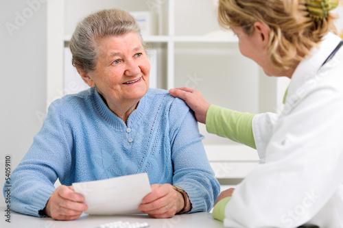 canvas print picture Arzt und Patient