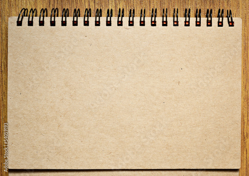 Notebook on a table