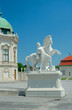 Sculpture of a man with horse near Upper Belvedere, Vienna, Aust