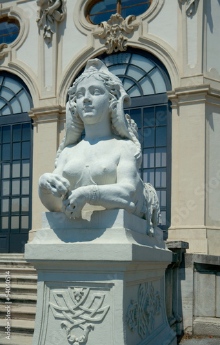 Sphinx at the entrance to Upper Belvedere, Vienna, Austria