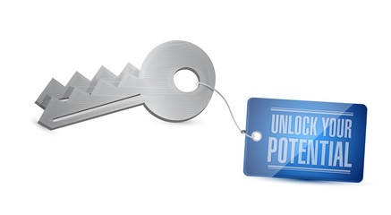 unlock you your potential illustration