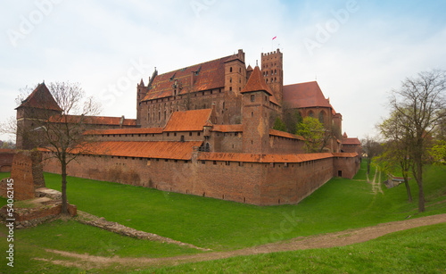Teutonic castle Malbork in Pomerania region of Poland.