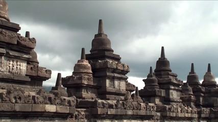 Borobudur.Buddhist Temple. Java, Indonesia.