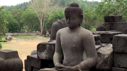 Statue of Buddha. Mahayana Buddhist Temple.