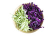 Green and red cabbage