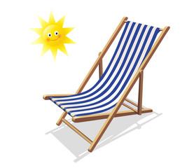 Liegestuhl mit Sonne