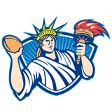 Statue of Liberty Throwing Football Ball