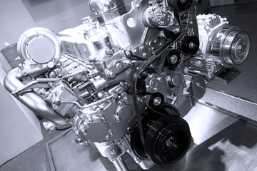 Brand new car engine