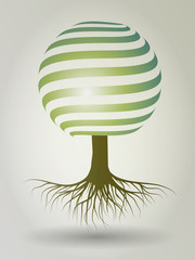 Stripes Tree Illustration