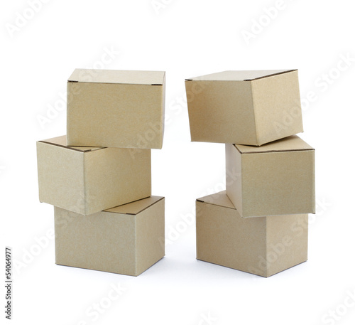 Boxes on white background.