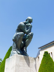 Rodin's Thinker at Paris Museum