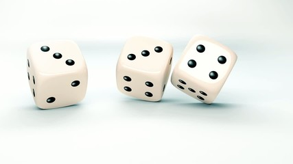 dice rolls in slow motion with the word strategy