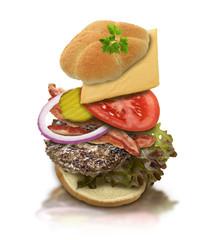 Ingredients Of Hamburger