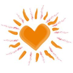 Sun with heart