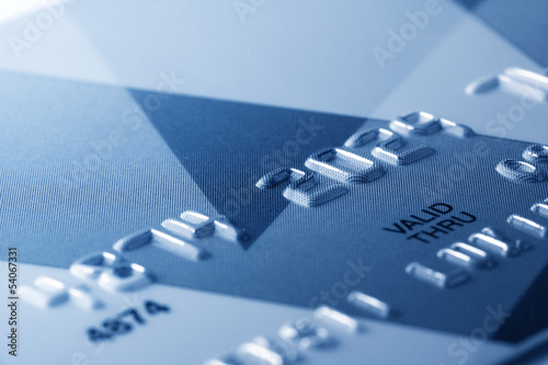 Fragment of credit card