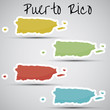 stickers in form of Puerto Rico