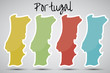 stickers in form of Portugal