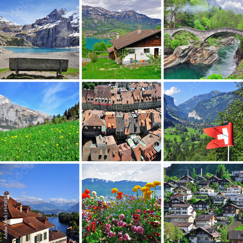 Swiss landscape - collage