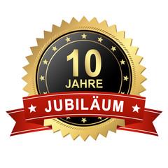 Button mit Banner - Jubiläum 10 Jahre
